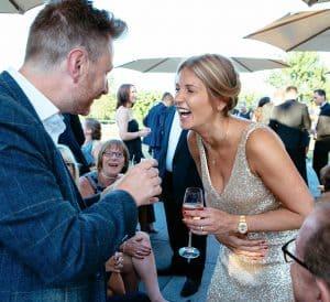 wedding entertainer excitement