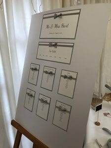 Wedding Guest Table Plan - Classic